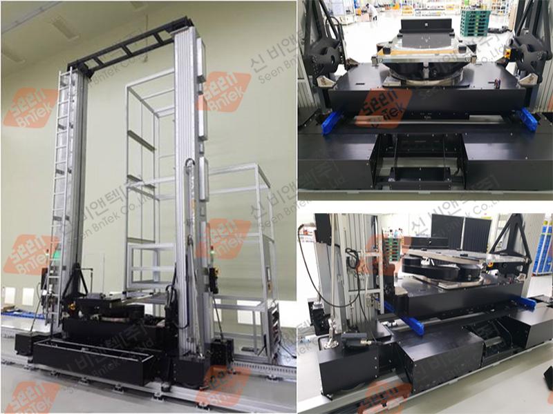 LCD Cassette 용 Stocker Crane System